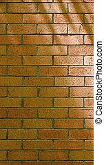 muur, baksteen, verticaal