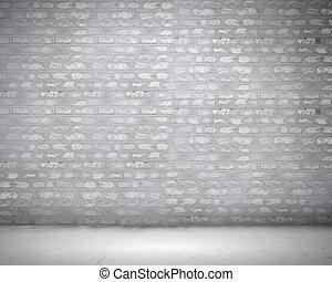 muur, bakstenen