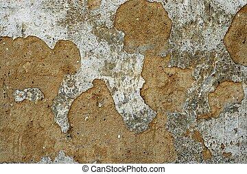 muur, barsten, oud, textuur