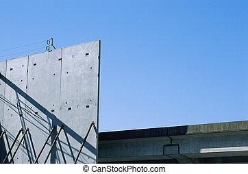muur, beton, bouwsector