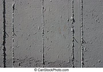 muur, beton, detail