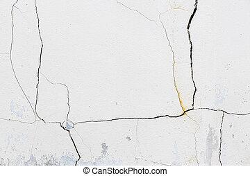 muur, beton, gebarsten