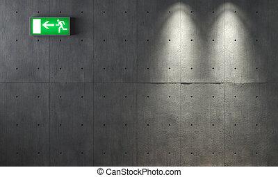 muur, beton, grunge, textuur