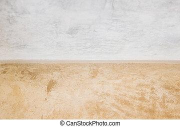 muur, beton, textuur, vloer