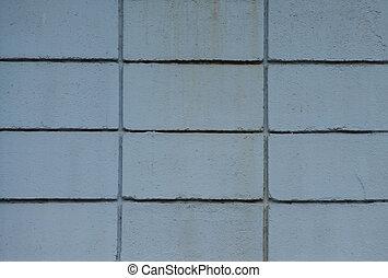 muur, blauw blok, achtergrond
