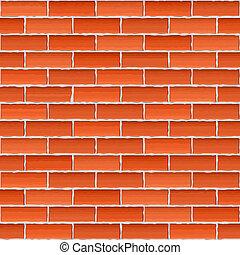 muur, bruine , baksteen, oud