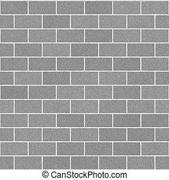 muur, concrete baksteen
