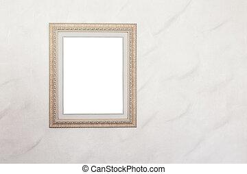 muur, fotokader, achtergrond, leeg, witte