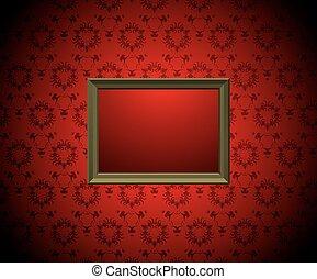 muur, fotolijst