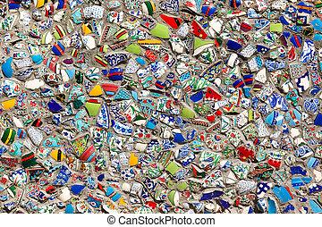 muur, fragmenten, turkse