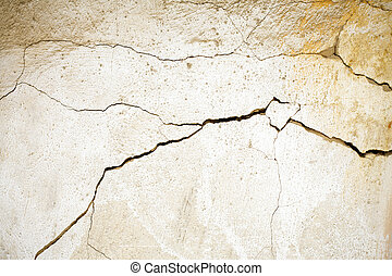 muur, gebarsten