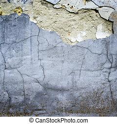 muur, gebarsten, vector, stucco, textuur