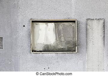 muur, gebrande