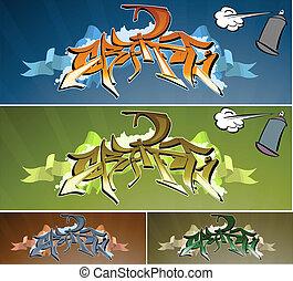 muur, graffiti
