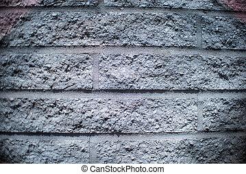 muur, grijs, baksteen, achtergrond