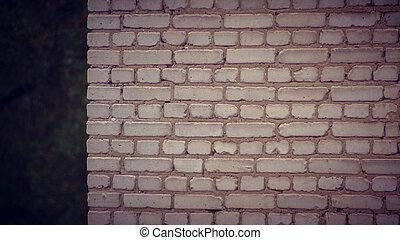 muur, grijs, baksteen, hoek, woning