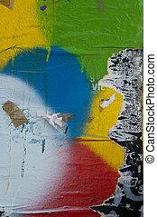 muur, grunge, textuur