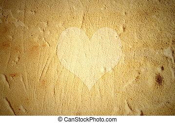 muur, hart, achtergrond