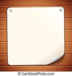 muur, hout, oud, papier, meldingsbord