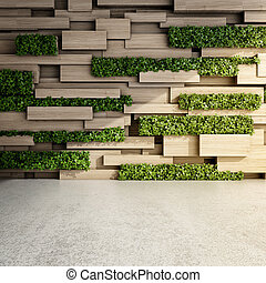 muur, interieur, moderne