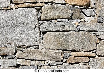 muur, landelijk, steen