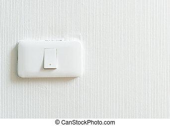 muur, lichte schakelaar