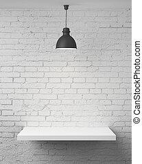 muur, met, plank