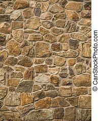 muur, metselwerk, rots