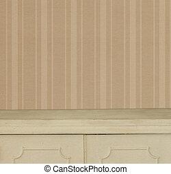 muur, model, strepen, achtergrond, ouderwetse , tafel