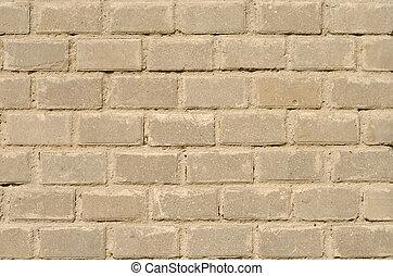 muur, nieuw, baksteen