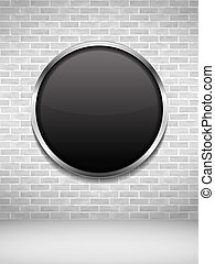 muur omlijsting, black , baksteen, ronde