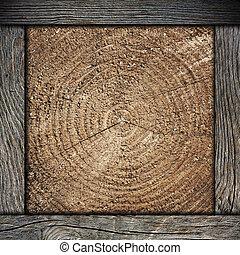 muur omlijsting, hout, achtergrond