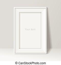 muur omlijsting, illustratie, achtergrond., vector, leeg, witte