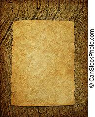 muur, papier, oud