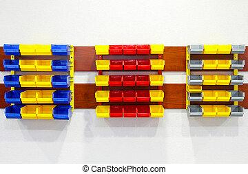 muur, planken