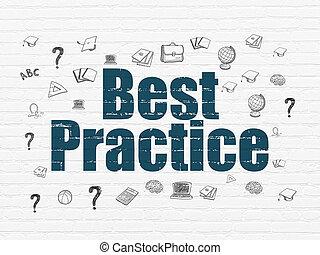 muur, praktijk, concept:, achtergrond, opleiding, best