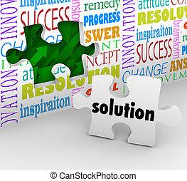 muur, raadsel, oplossing, opgeloste, probleem, stuk, uitdaging