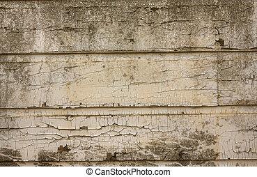 muur, schillen, grunge, verf