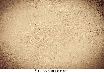 muur, sepia, grunge, achtergrond
