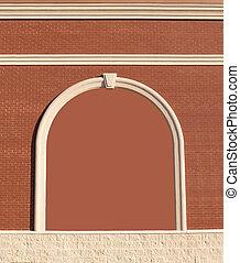 muur, sierlijk, baksteen, de ruimte van het exemplaar