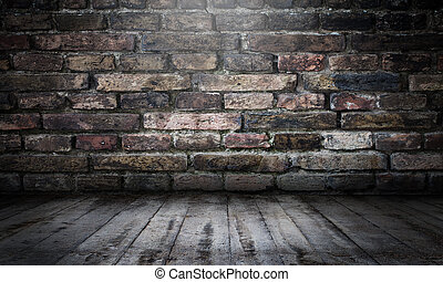 muur, stedelijke , baksteen, toneel