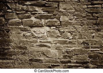 muur, steen, oud, achtergrond