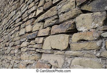 muur, steen, oud