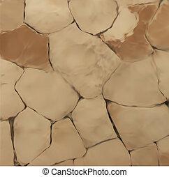 muur, steen, vector, texture.