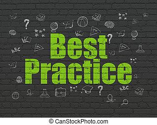 muur, studerend , praktijk, concept:, achtergrond, best