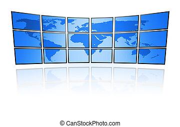 muur, televisie