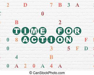 muur, tijdsverloop, achtergrond, tijd, actie, concept: