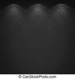 muur, verlicht, textuur, grijze