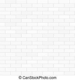 muur, witte baksteen, seamless