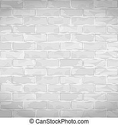 muur, witte , oud, baksteen